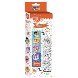 Παζλ Χρωματισμού Πύργος 44 Cats 2 Όψεων Luna Toys, 24 Τμχ., 13x48 εκ.