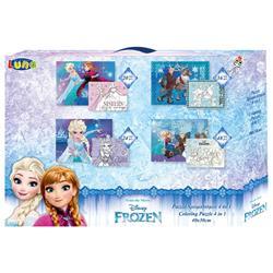 Παζλ Χρωματισμού Disney Frozen 2 2 Όψεων 4 σε 1, Luna Toys, 20-24-36-48 Τμχ., 30x40 εκ.