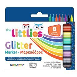 Μαρκαδόροι Ζωγραφικής The littlies Glitter 8 Χρώματα
