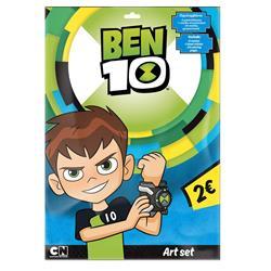 Σετ Ζωγραφικής Ben 10 με 24 Σελίδες Χρωματισμού, 6 Μαρκαδόροι και Αυτοκόλλητα