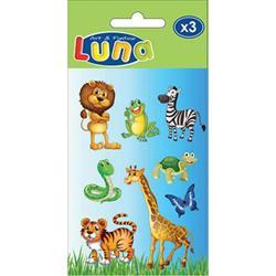 Αυτοκόλλητα Παιδικά Luna 3 φύλλα 8x12 εκ.