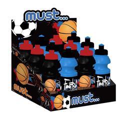 Παγούρι 350 ml Παιδικό Must Basketball - Football Πλαστικό με Καπάκι