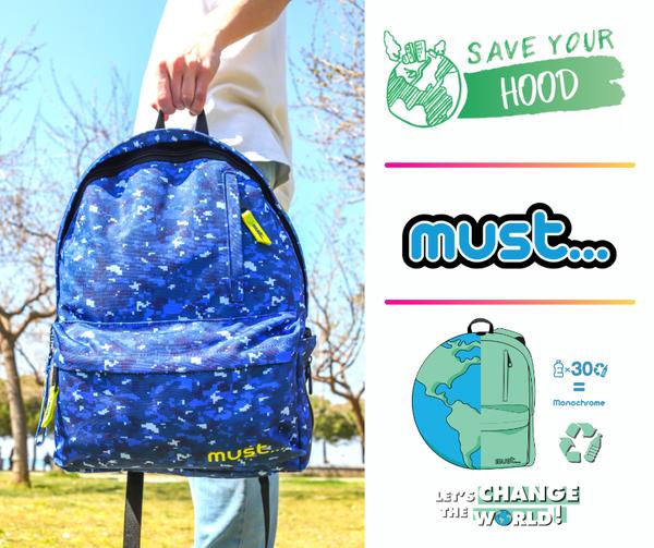 Σακίδια Must rPET και Save Your Hood μαζί για ένα καθαρό Περιβάλλον!